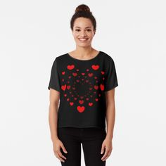 'Hearts for my Valentine' Chiffon Top by iRenza Friend Valentine Gifts, Valentine Gifts For Kids, Valentines Gifts For Boyfriend, Boyfriend Gifts, Best Friend Shirts, Dad To Be Shirts, Family Shirts, Romantic Valentines Day Ideas, Best Valentine's Day Gifts