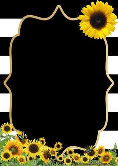 Get Free Printable Beautiful Flower Baby Shower Invitation Idea Sunflower Birthday Parties, Sunflower Party, Free Printable Birthday Invitations, Baby Shower Invitation Templates, Disney Invitations, Baby Shower Printables, Birthday Party Invitations, Invitation Design, Invitation Cards