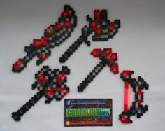 Terraria Hallowed Items Perler Sprite Set by CorneliusPixelCrafts