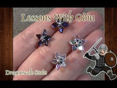 Beaded Dragonscale Earring Studs Jewelry Tutorial - Lessons With Odin