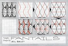 Fantails - tangle pattern by perfectly4med, via Flickr