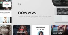 Photography Nowww - Creative Portfolio, Agency, Freelancer, Blogging, Photography, Travel Template by Nowww Photography Nowww is a PSD template for Corporate and Creative Lancers. It has 3 homepage demo for now but soon I¡¯ll update it to