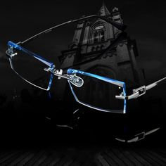 56cfb6a91869 Men Fashion Glasses Titanium Rimless Eyeglasses Male Diamond Decorations  Optical Frame with Prescription Glass NEW oculos