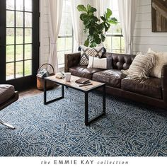 Delicate hand-woven pattern work inspired by traditional Nordic sweater motifs is the main focal point of our Emmie Kay collection. This 100% wool reversible collection will bring a sophisticated yet unique touch to your home. #JoannaGainesxLoloi