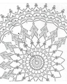 As ceiling medallion? Crochet Mandala Pattern, Crochet Circles, Crochet Diagram, Doily Patterns, Macrame Patterns, Crochet Chart, Thread Crochet, Crochet Stitches, Crochet Patterns