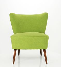 cocktail chair reupholstered in Italian wool Cocktail Chair, Single Sofa, Sofa Chair, Accent Chairs, Upholstery, Rest, Colours, Armchairs, Furniture