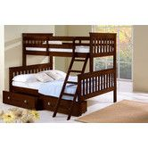 Found it at Wayfair - Donco Kids Twin Over Full Mission Bunk Bed with Tilt Ladder and Storage Drawers