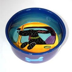 Hand Painted Pet Dish Bowl Just Plain Spoiled Made By Beadsbymavis 49 00 Dogs Pinterest Bowls Dishes And Pottery
