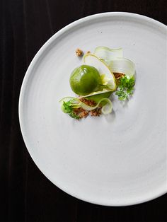 © Signe Birck.   Dish by chef Bryce Shuman at Betony. Exclusive interview with the photographer here: http://theartofplating.com/editorial/spotlight-photographer-signe-birck/