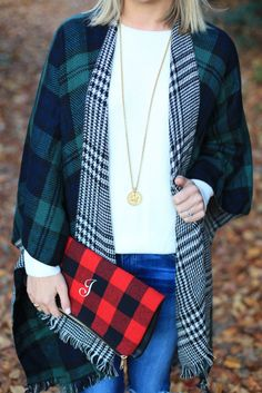 I love mixing plaids so much!
