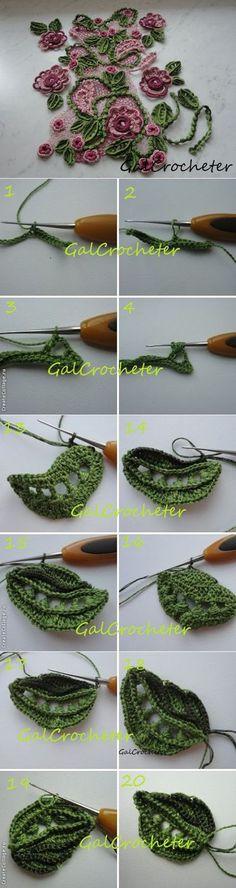Irish crochet lace motifs pattern