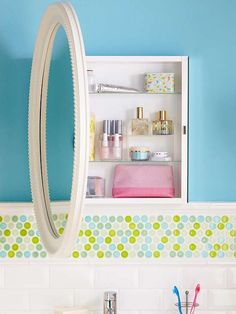 With just a stud finder and a drill, you can install the cabinet in less than an hour: http://www.bhg.com/home-improvement/remodeling/budget-remodels/weekend-home-projects/?socsrc=bhgpin042614hangamedicinecabinet&page=16