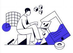 Play illustration by Brandon Land people illustration character, vector, simp. People Illustration, Line Illustration, Business Illustration, Character Illustration, Art Journal Inspiration, Graphic Design Inspiration, Storyboard, Character Modeling, Pretty Art