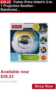 Crib Toys: Fisher-Price Infants 3-In-1 Projection Soother - Rainforest Friends BUY IT NOW ONLY: $38.23