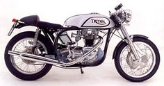 Triumph engine in a norton featherbed frame