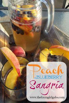Peach Blueberry Sangria - Pinterest