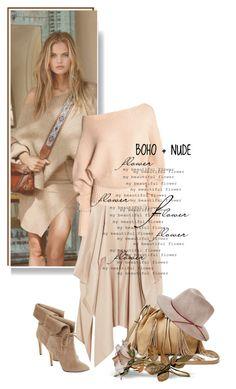 """Boho + nude"" by vinograd24 ❤ liked on Polyvore featuring Ralph Lauren, 424 Fifth, Barbara Casasola, Diane Von Furstenberg and Eugenia Kim"