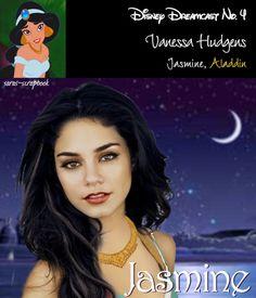 Jasmine=Vanessa Hudgens / A Dream Cast Of Your Favorite Disney Characters (via BuzzFeed Community)