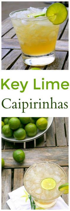 Put down your margarita and give these Key Lime Caipiranhas a chance. After much tweaking, Brazil's national cocktail never tasted so good. Healthy Cocktails, Summer Cocktails, Fun Drinks, Beverages, Mixed Drinks, Easy Cocktails, Craft Cocktails, Agave, Cocktail And Mocktail