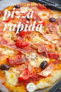 Pizza Rapida, Pizza Lasagna, Quiche, Dessert Recipes, Desserts, Hawaiian Pizza, Pepperoni, Bakery, Kefir