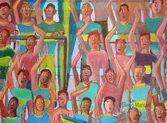 """""""La bombonera """", acrílico sobre lienzo, 65 x 95 cm. , 2016. by Diego Manuel"""