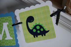 Dinosaur Name Banner, Dinosaur Birthday, Dinosaur Theme, Dinosaur Party, Dinosaur Party Decorations, Baby Shower
