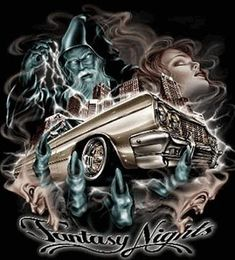 fantasy lowrider lovely woman picture and wallpaper Chicano Drawings, Chicano Tattoos, Car Drawings, Chicano Love, Chicano Art, Minions, Cholo Art, Prison Art, Latino Art