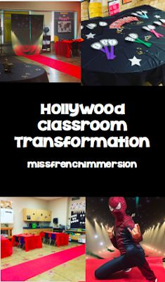 Hollywood Classroom Transformation Snoopy Classroom, 5th Grade Classroom, Middle School Classroom, Classroom Design, Kindergarten Classroom, Classroom Themes, Hollywood Room, Hollywood Classroom, Hollywood Theme