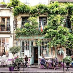 Can't wait to have croissants and coffee at this cafe in Paris! Two more months!!