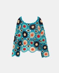Pull Crochet, Crochet Jumper, Mode Crochet, Diy Crochet And Knitting, Crochet Crop Top, Crochet Woman, Crochet Blouse, Crochet Clothes, Patchwork Dress