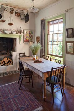 carisbrook home // country style ~ Green trim, neutral walls