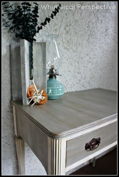Whimsical Perspective - Chalk Paint® decorative paint by Annie Sloan Old White and French Linen
