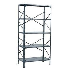 Edsal 72-In H X 36-In W X 18-In D 5-Tier Steel Freestanding Shelving U