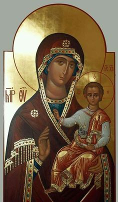 Icon orthodox Religious Icons, Religious Art, Hail Holy Queen, Greek Icons, Christmas Icons, Madonna And Child, Blessed Virgin Mary, Orthodox Icons, Godly Woman