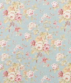 Waverly fabric- ballad bouquet robins egg- THIS is what we bought to make table runners out of today.  Gorgeous!!!