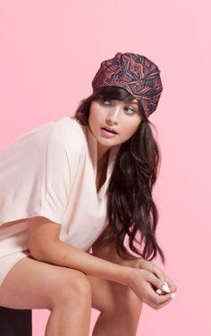 A super cute turban...or shower cap?