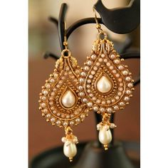 J'adore Gold and Pearl Earrings