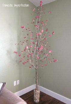 Make your own fake blossoming cherry tree