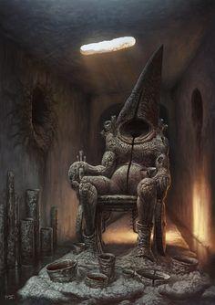 Fantastic Worlds Fantastic Worlds - Sword and Sorcery - Fantastical Creatures Monster Concept Art, Fantasy Monster, Monster Art, Lovecraftian Horror, Arte Obscura, Arte Horror, Creepy Art, Dark Fantasy Art, Creature Design