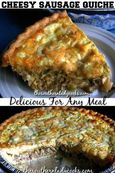 Cheesy Sausage Quiche - The Southern Lady Cooks & cheesy sausage quiche - die köche aus dem süden Cheesy Sausage Quiche - The Southern Lady Cooks & For Kids brunch recipes, brunch recipes Cold, brunch recipes Chicken Breakfast Quiche, Sausage Breakfast, Breakfast Dishes, Breakfast Recipes, Brunch Dishes, Breakfast Time, Breakfast Casserole, Easy Brunch Recipes, Gourmet Recipes