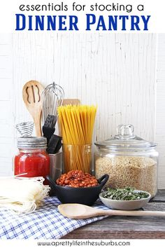 Stock your pantry with simple and practical items to make dinner planning easier than ever! Here is a detailed list, including a printable checklist! Homemade Tacos, Homemade Taco Seasoning, Spiral Noodles, Non Perishable Foods, How To Thicken Sauce, Healty Dinner, Frozen Vegetables, Home Food, Baking Supplies