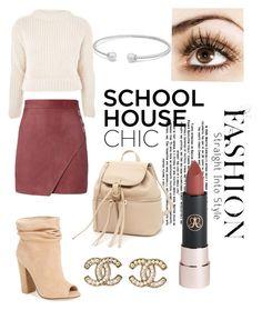 """""""Schoolhouse Chic 😍📚"""" by morganrae02 on Polyvore featuring Michelle Mason, Topshop, Kristin Cavallari, Salvatore Ferragamo, Chanel and David Yurman"""
