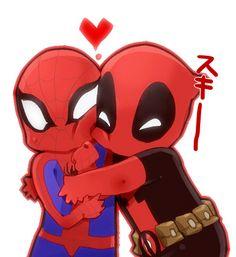 Peter Parker and Wade Wilson -  SpideyPool #fanart