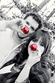 Fun Christmas couples photo idea!