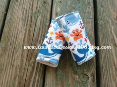 Nautical Whales with Blue Minky Dot Reversible Car Seat Strap Covers by LauraLeeDesigns108 on Etsy, $10.00