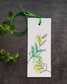 Watercolor Paintings For Beginners, Watercolor Art Lessons, Watercolor Bookmarks, Watercolor And Ink, Paper Bookmarks, Creative Bookmarks, Bookmark Craft, Book Markers, Diy Canvas Art