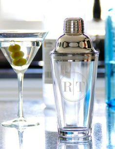 Shake up your barware repertoire or give a personalized cocktail shaker as a meaningful gift