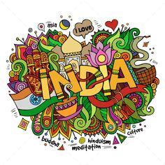 3 India Doodles #Ad #India, #affiliate, #Doodles