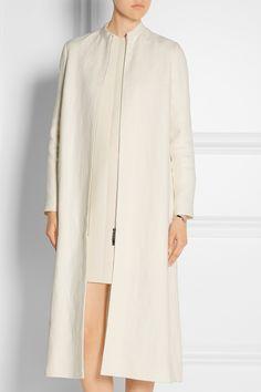 The Row|Zuri linen-burlap coat|NET-A-PORTER.COM
