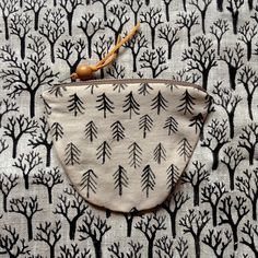 Coniferous Forest baby pouch via mariczka. Click on the image to see more!